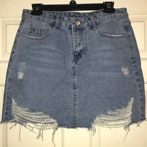 🔻Final ✂️ Denim Cut-Off Skirt size L